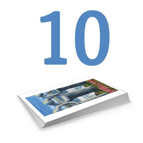 Set of 10 Colour Postcards