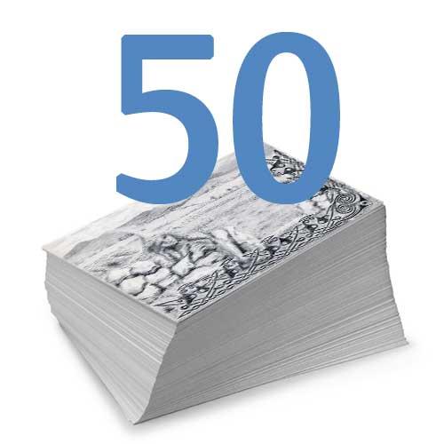 Set of 50 Black & White Postcards